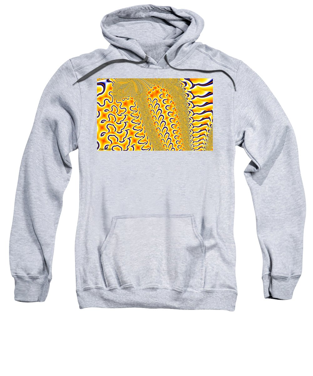 Clay Sweatshirt featuring the digital art Flux by Clayton Bruster