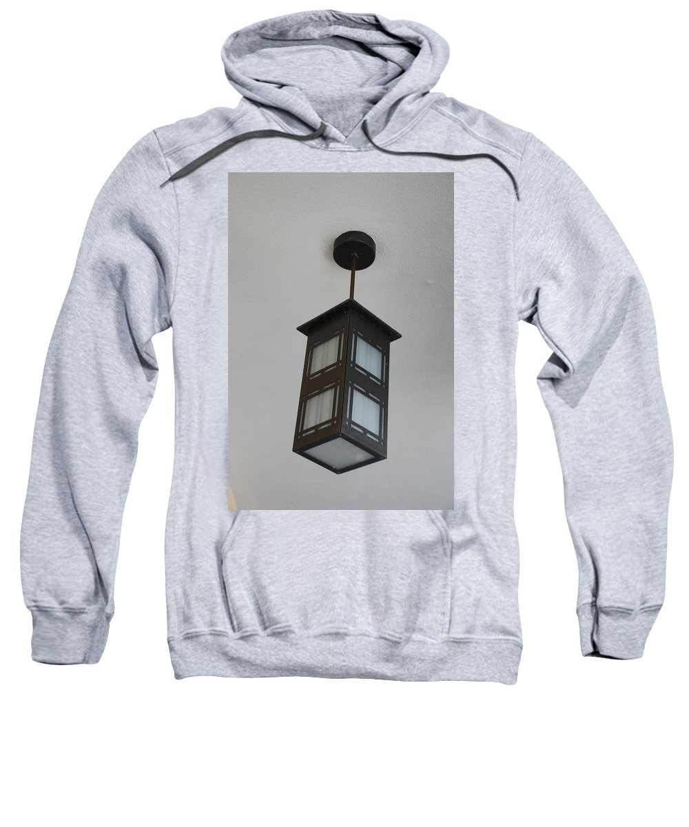 Black And White Sweatshirt featuring the photograph Flw Lamp by Rob Hans