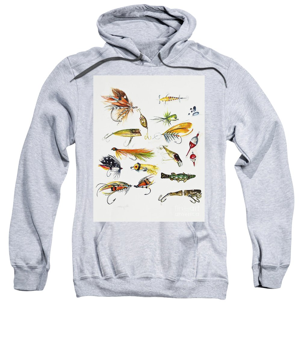 Fishing Sweatshirt featuring the painting Fly Fishing I by Johnnie Stanfield