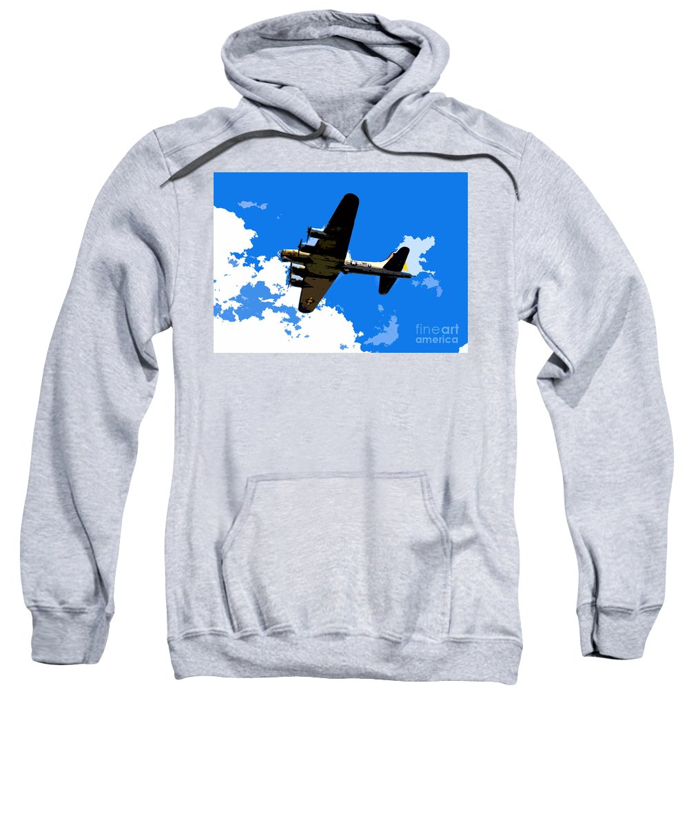 Flying Fortress Sweatshirt featuring the photograph Flying Fortress by David Lee Thompson
