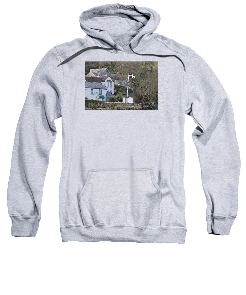 Piran Sweatshirt featuring the photograph Flying The Flag For Cornwall by Terri Waters