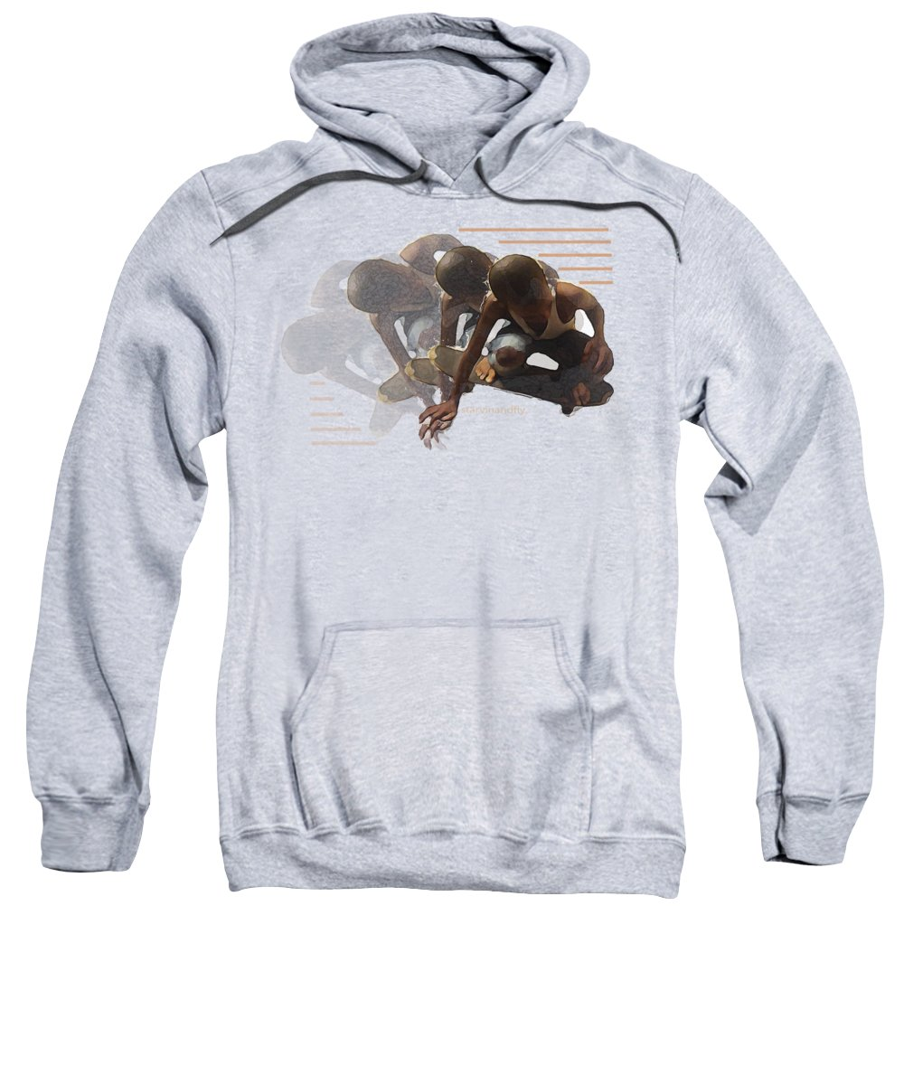 Skateboard Sweatshirt featuring the photograph Flying Times by Roz Jackson
