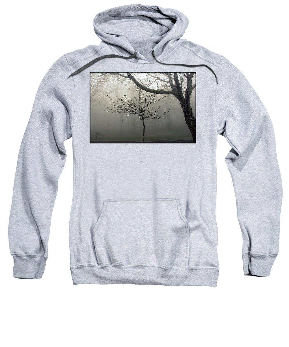 Fog In Shenandoah Sweatshirt featuring the photograph Fog In Shenandoah by Shannon Louder