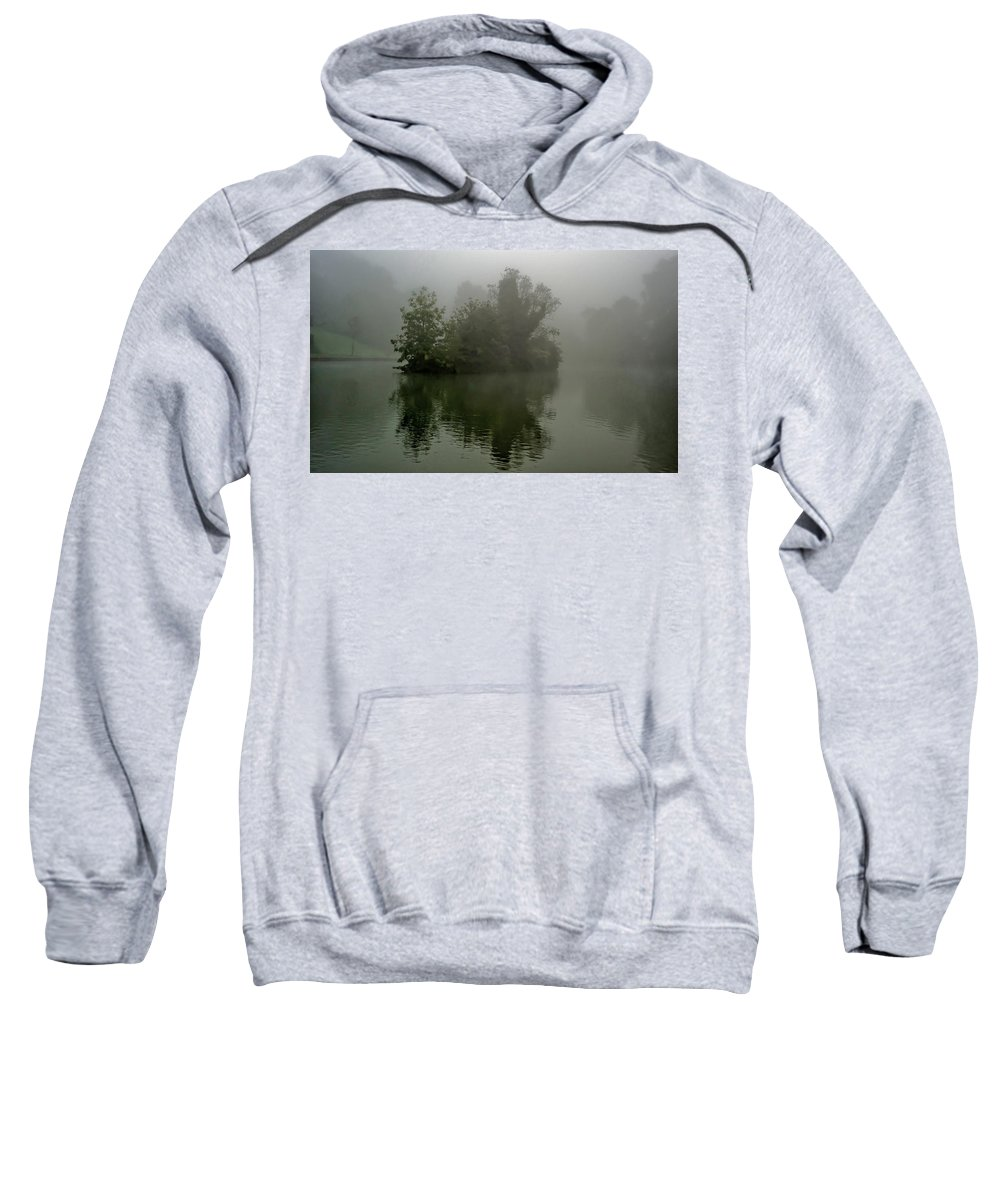 Tree Sweatshirt featuring the photograph Fog In The Park- Warminster by Krzysztof Dac