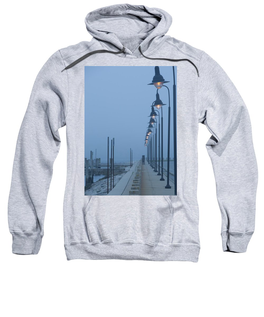 Fog Sweatshirt featuring the photograph Foggy Evening by Steven Natanson