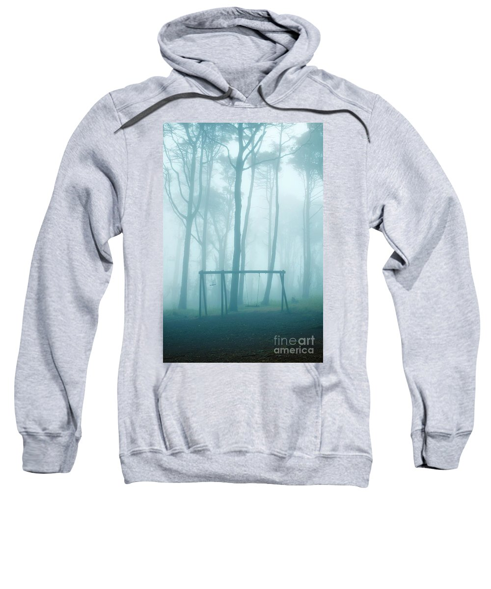 Abandoned Sweatshirt featuring the photograph Foggy Swing by Carlos Caetano