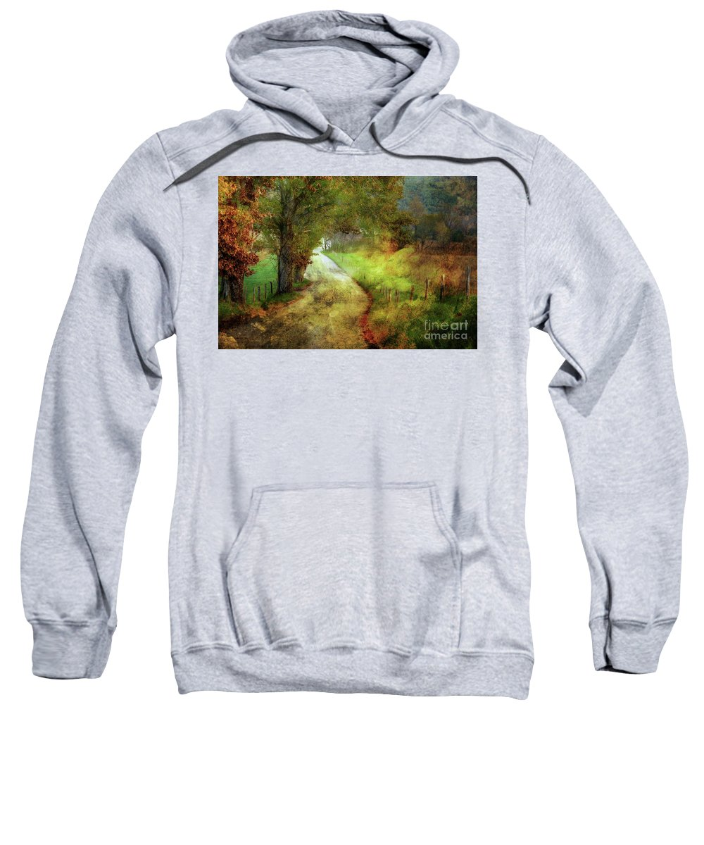 Country Lane Sweatshirt featuring the photograph Following My Vision by Michael Eingle