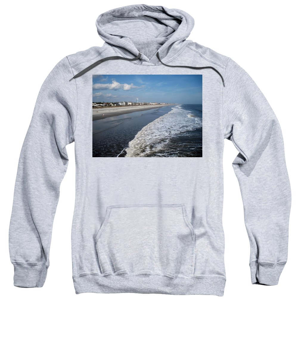 Photography Sweatshirt featuring the photograph Folly Beach Charleston Sc by Susanne Van Hulst