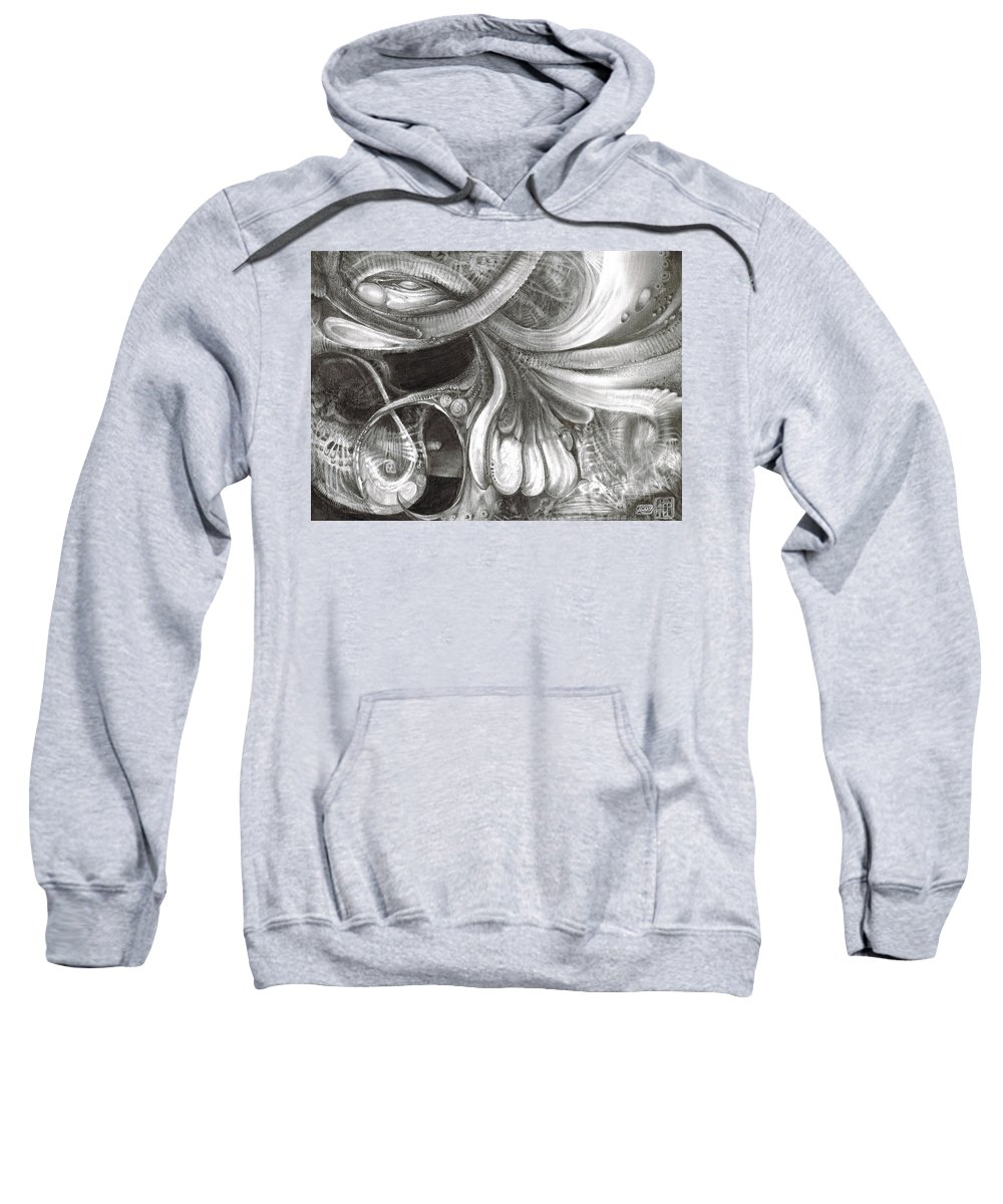 Sweatshirt featuring the drawing Fomorii Pod by Otto Rapp