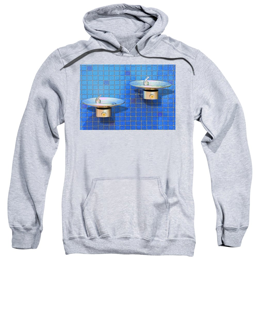 Photography Sweatshirt featuring the photograph Fontaine Bleue by Paul Wear