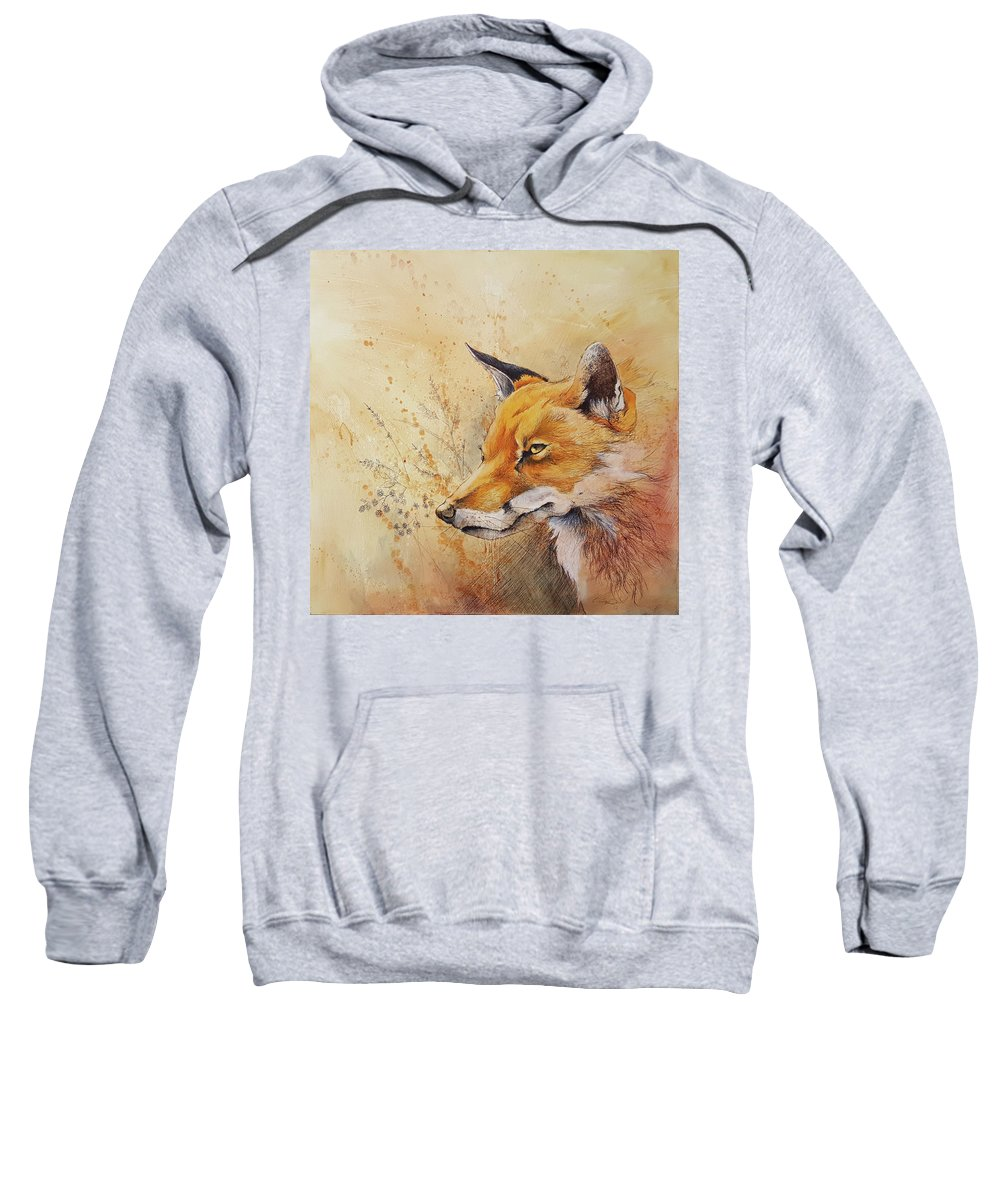 Art Sweatshirt featuring the mixed media Foolish Fire by Eric Dull