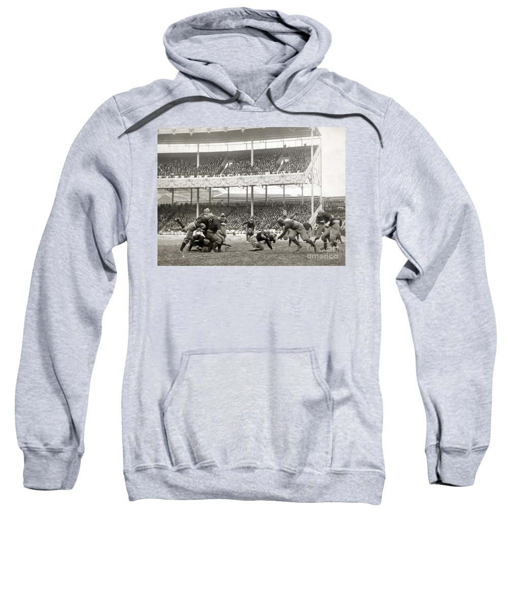 1916 Sweatshirt featuring the photograph Football Game, 1916 by Granger