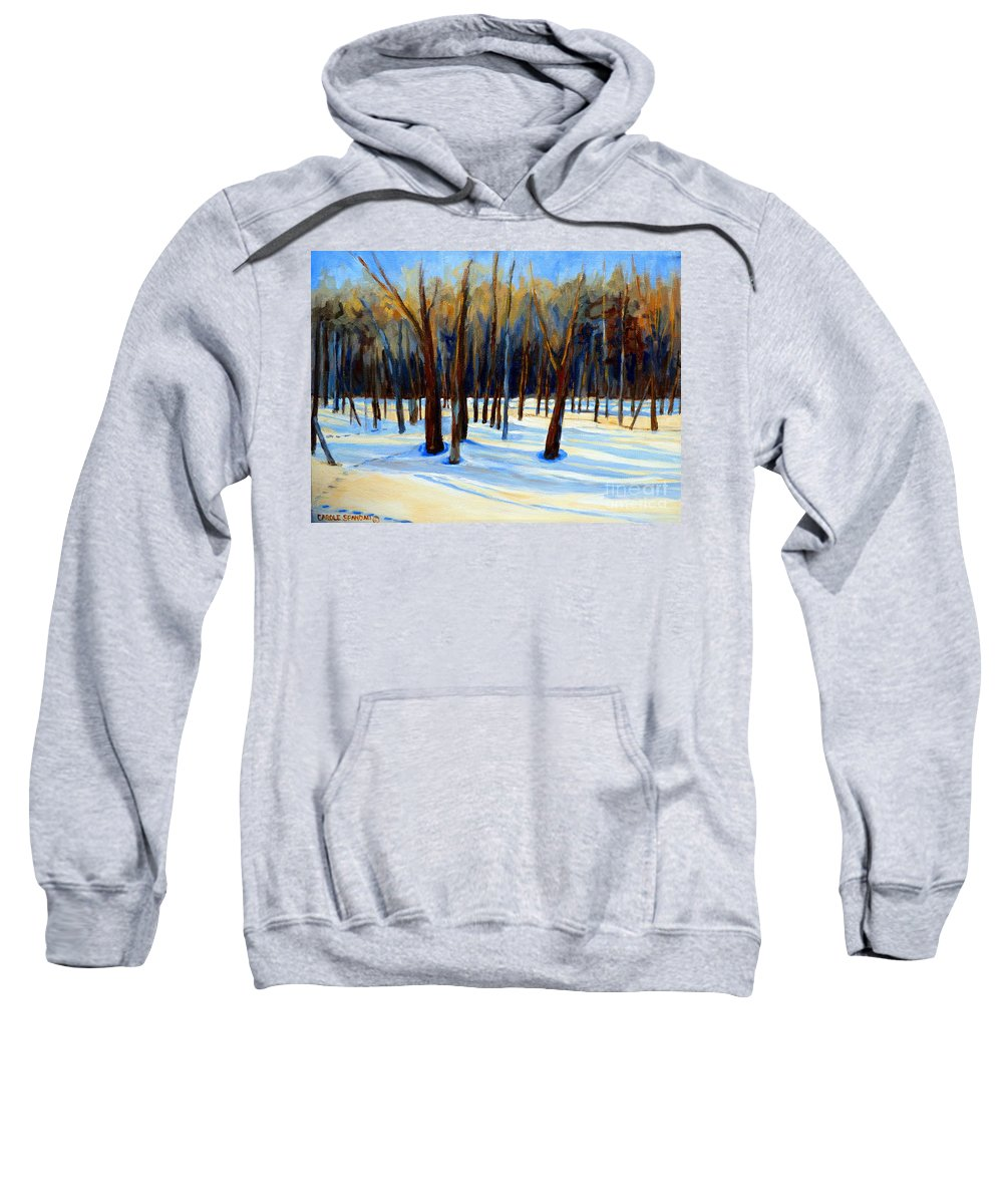 Beautiful Winter Sweatshirt featuring the painting Footprints by Carole Spandau