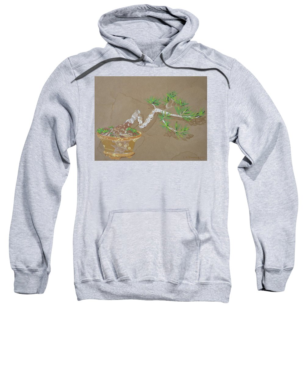 Banzai Tree Sweatshirt featuring the painting For Inge by Leah Tomaino