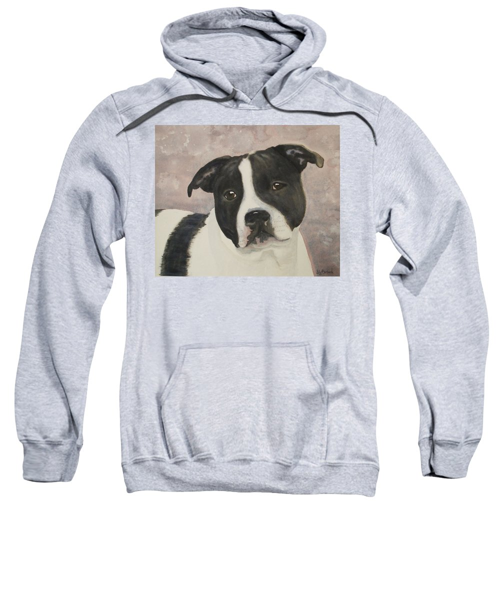 Dog Sweatshirt featuring the painting For Me by Ally Benbrook