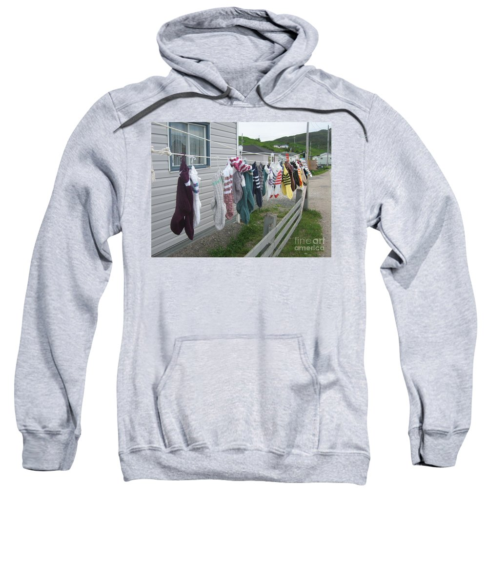 Knitted Socks Newfoundland Sweatshirt featuring the photograph For Sale by Seon-Jeong Kim