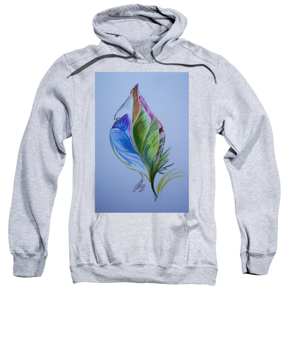 Abstract Sweatshirt featuring the drawing For Starters by Suzanne Udell Levinger