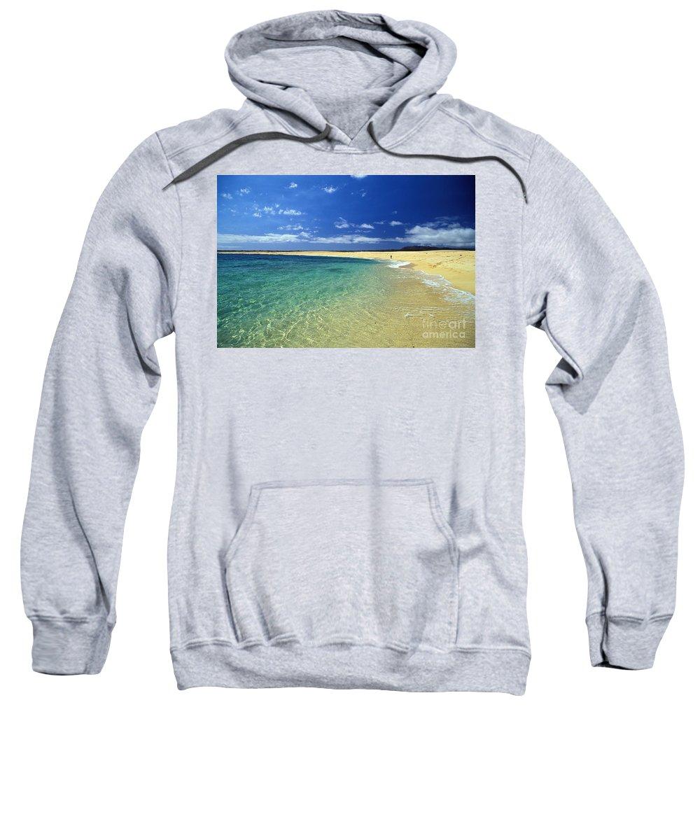 Beach Sweatshirt featuring the photograph Forbidden Island by Bob Abraham - Printscapes