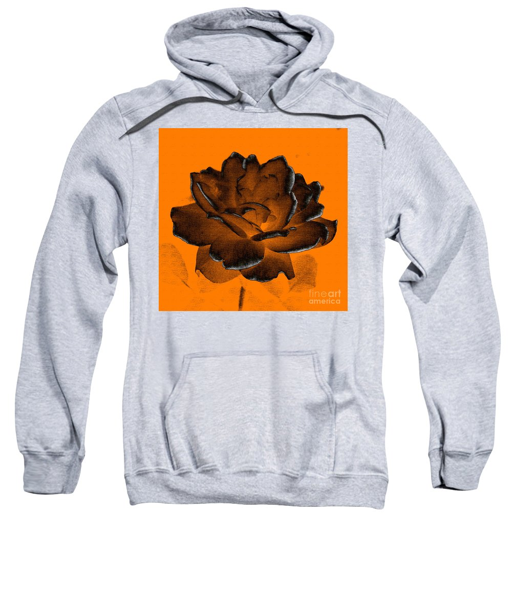 Rose Sweatshirt featuring the photograph Forced Into Shape by Amanda Barcon