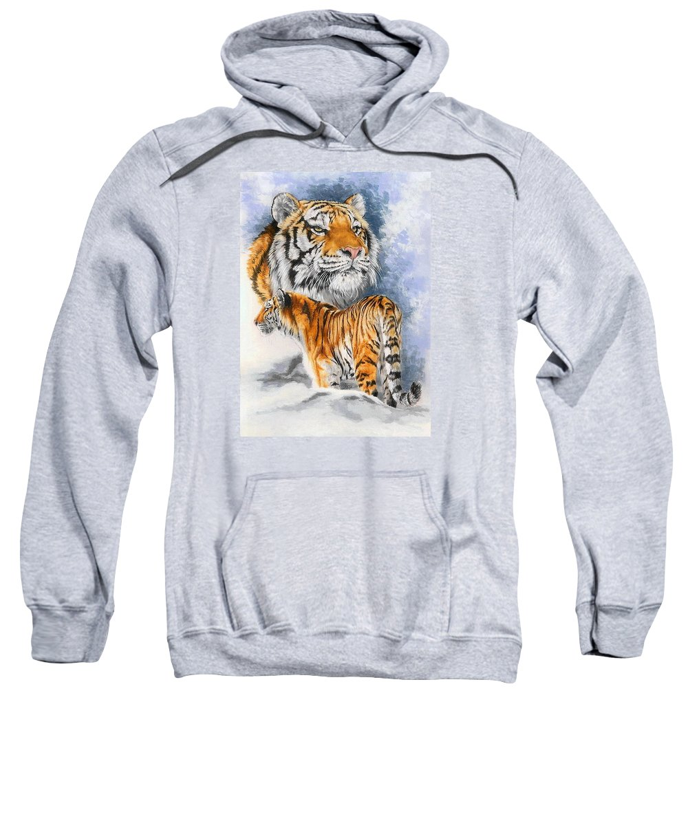 Big Cats Sweatshirt featuring the mixed media Forceful by Barbara Keith