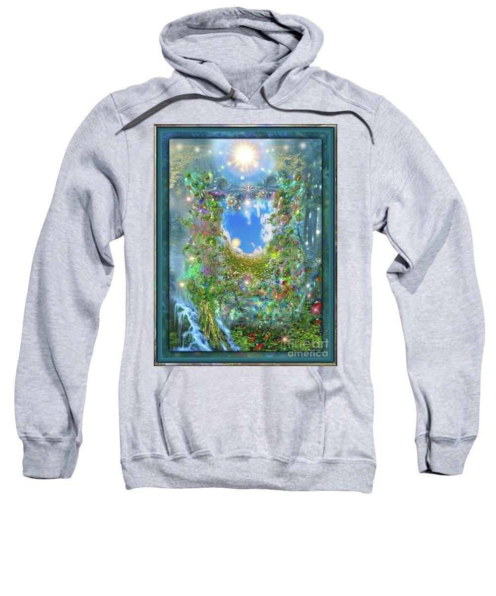 Forest Sweatshirt featuring the digital art Forest Force by Leonard Rubins