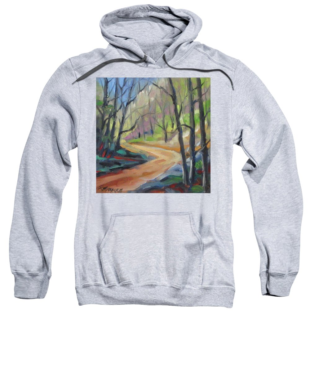 Art Sweatshirt featuring the painting Forest Way by Richard T Pranke