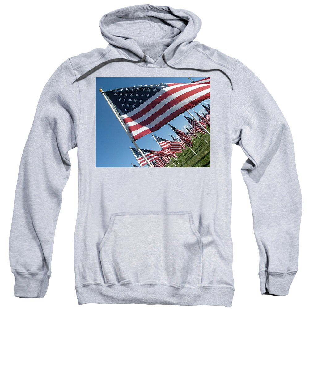 Flag Sweatshirt featuring the photograph Forever Flags by Dawn Blair