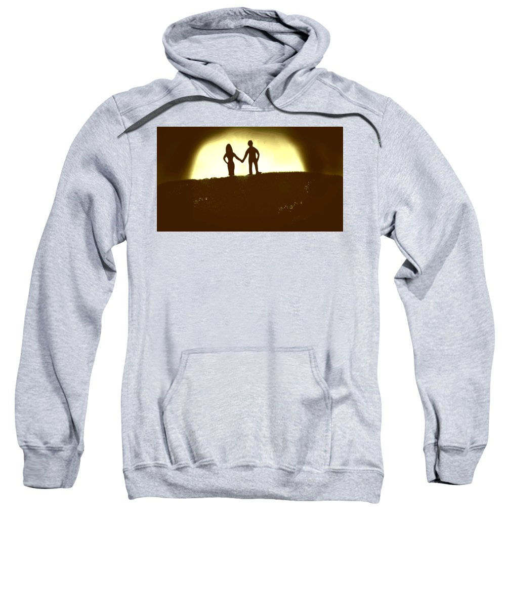 Forever Sweatshirt featuring the painting Forever by Vedant Tailang