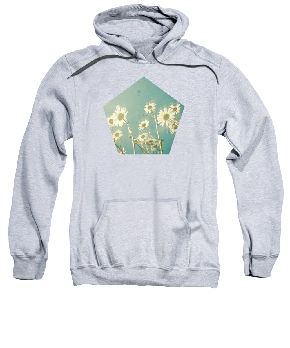 Daisy Sweatshirt featuring the photograph Forever Young by Cassia Beck