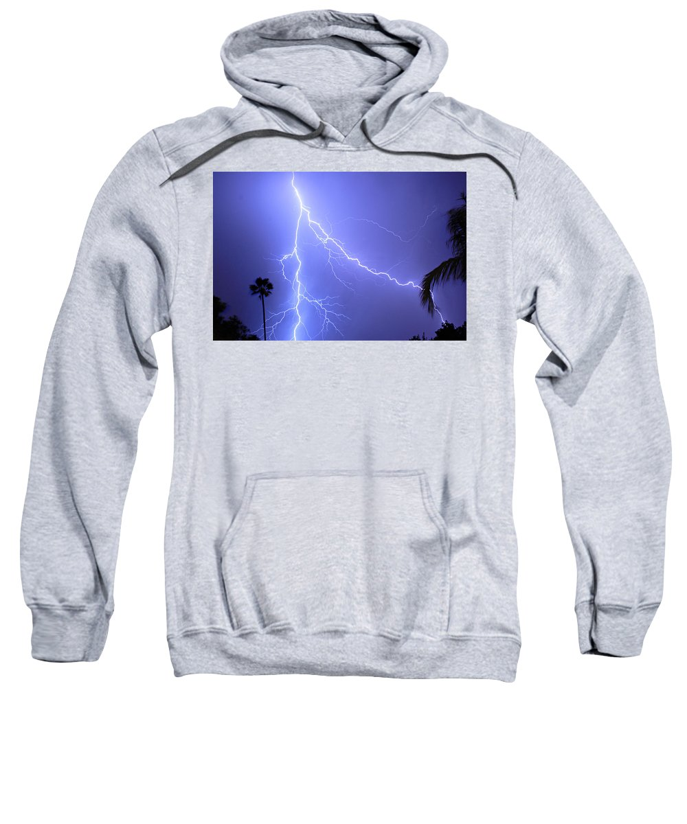 Lightning Sweatshirt featuring the photograph Fork In The Sky by James BO Insogna