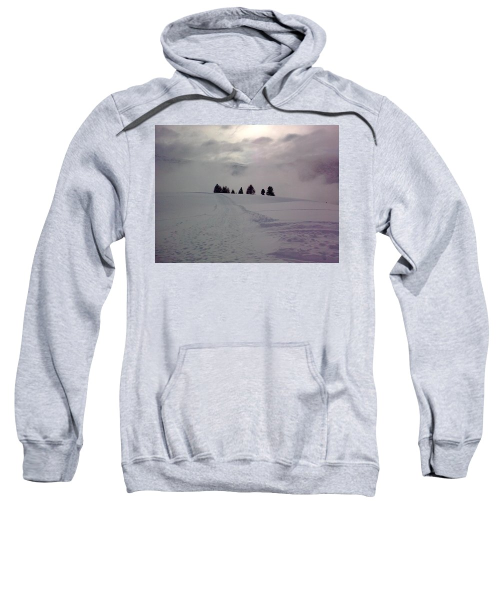 Landscape Sweatshirt featuring the photograph Forlorn Trees by Valerie Ornstein