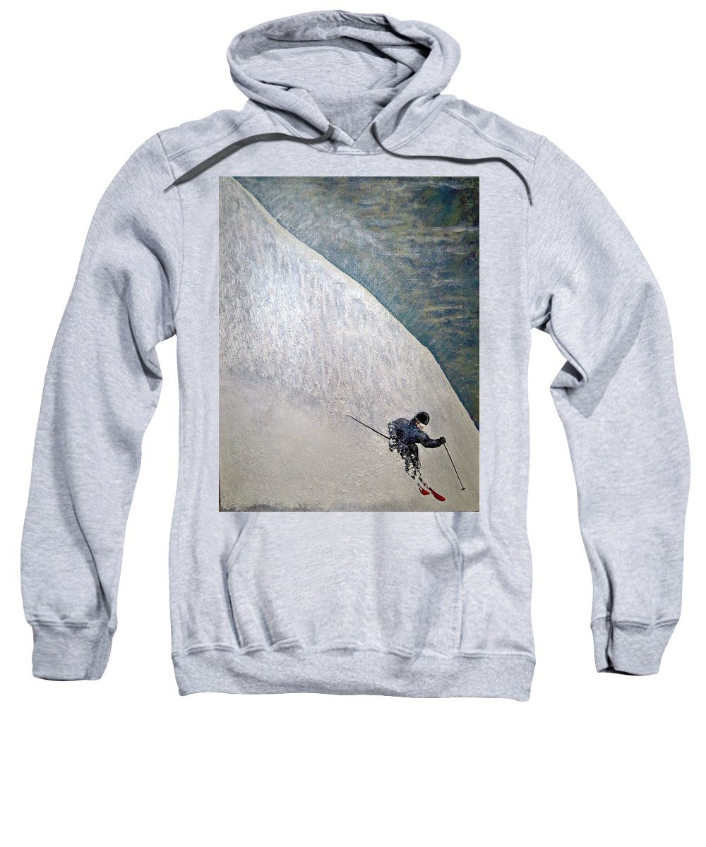 Landscape Sweatshirt featuring the painting Form by Michael Cuozzo