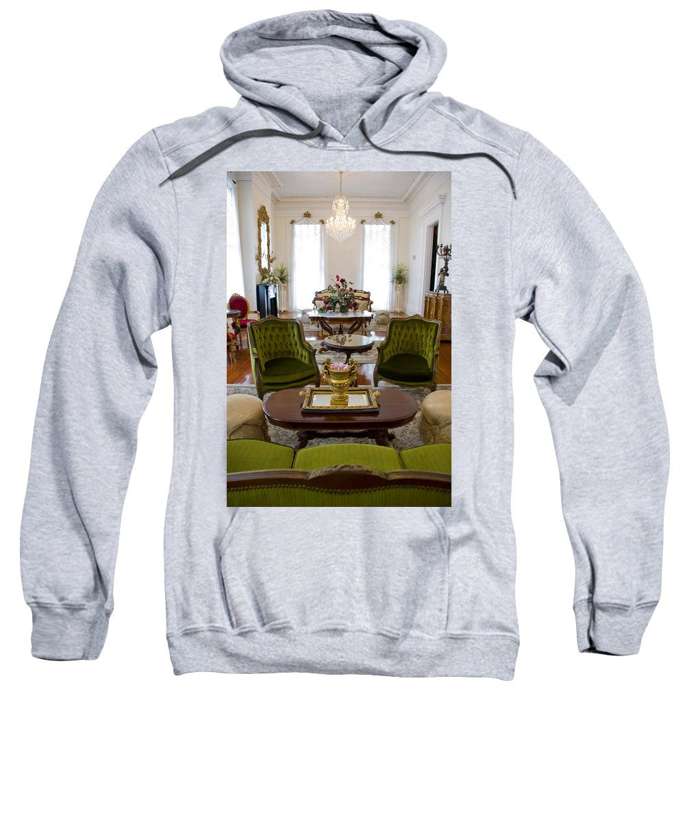 Mansion Sweatshirt featuring the photograph Formal Dining Room by Jennifer Kelly
