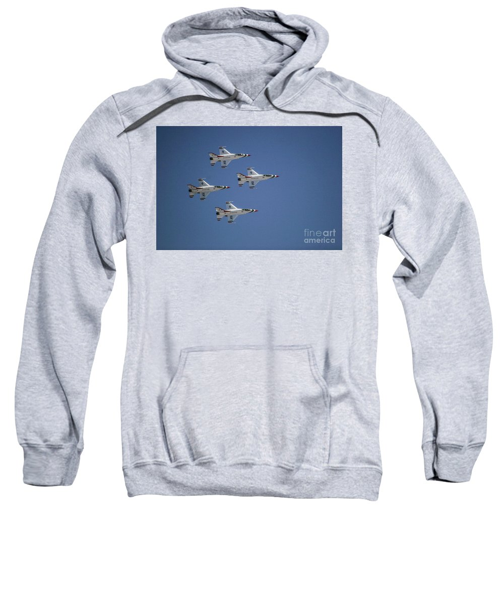 Air Force Sweatshirt featuring the photograph Formation Flying by Chandra Nyleen