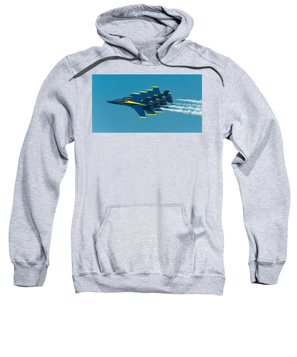 Us Navy Sweatshirt featuring the photograph Formation by Sebastian Musial