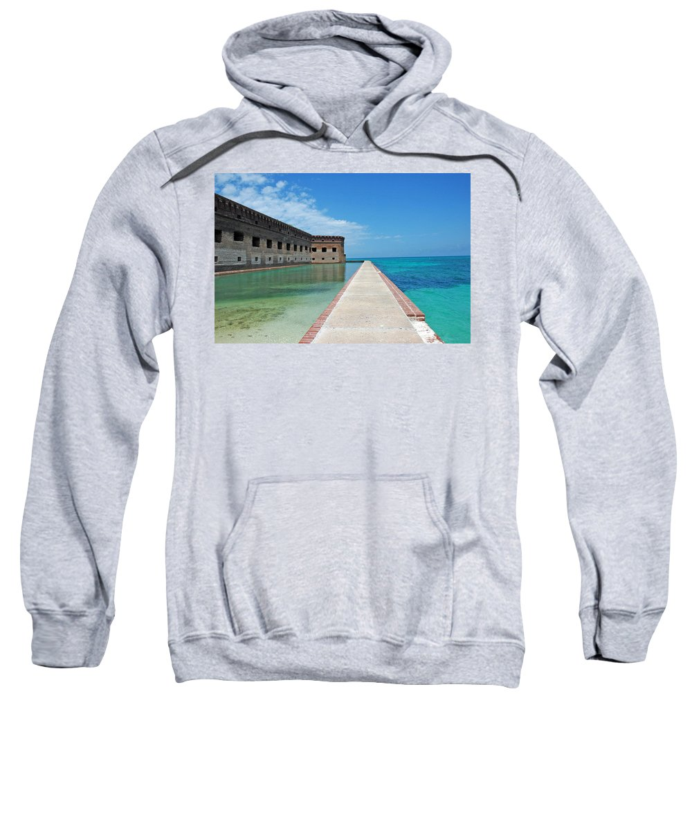Fort Jefferson Sweatshirt featuring the photograph Fort Jefferson Dry Tortugas by Susanne Van Hulst