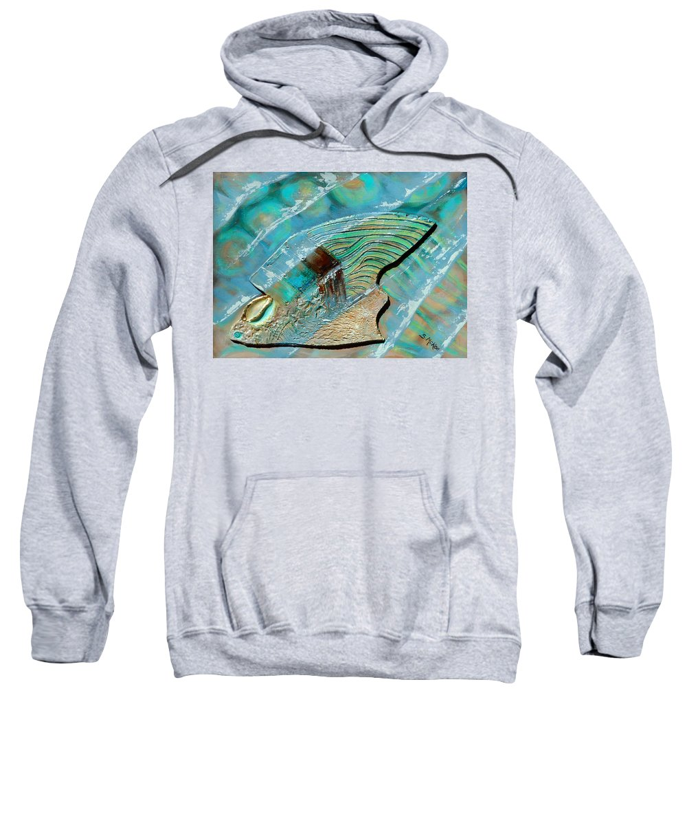 Acrylic Sweatshirt featuring the painting Fossil On The Shore by Suzanne McKee