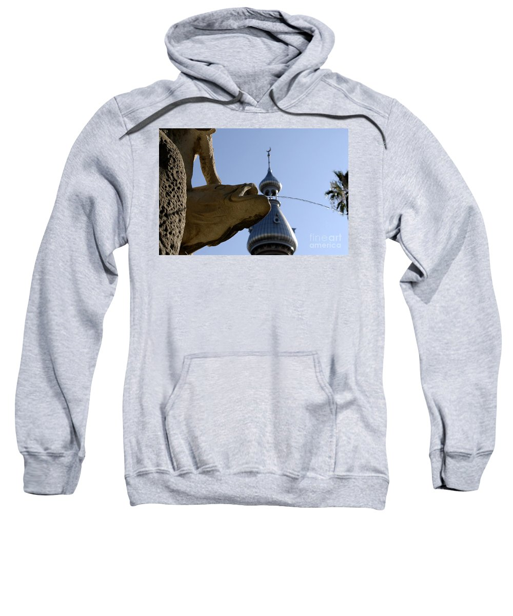 University Of Tampa Sweatshirt featuring the photograph Fountain At Ut by David Lee Thompson