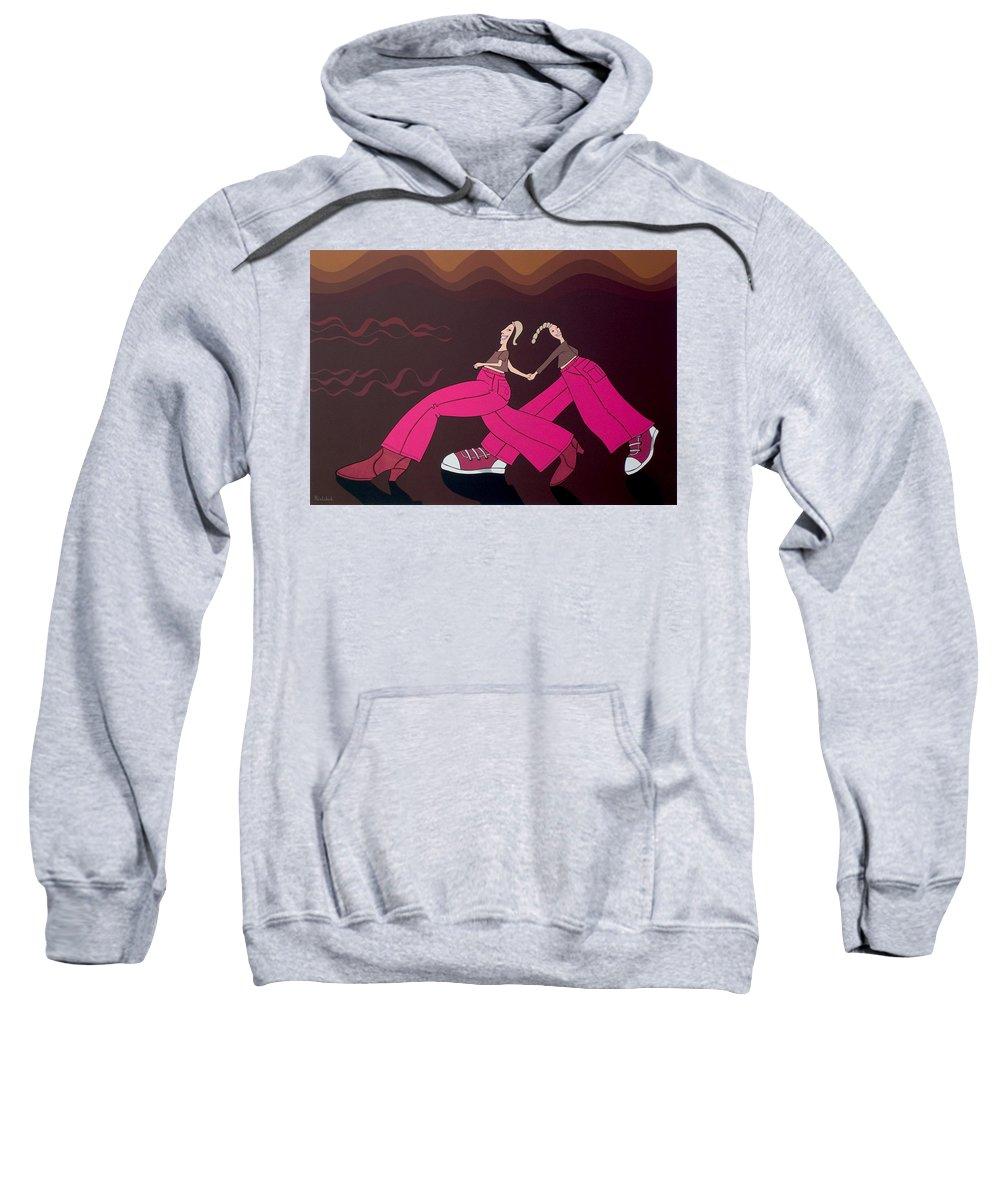 Girls Sweatshirt featuring the painting Fourteen by Patricia Van Lubeck