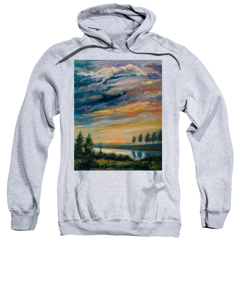 Water Sweatshirt featuring the painting France IIi by Rick Nederlof