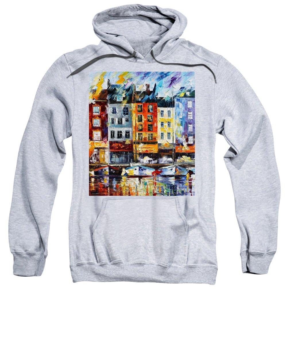 Afremov Sweatshirt featuring the painting France New Original by Leonid Afremov