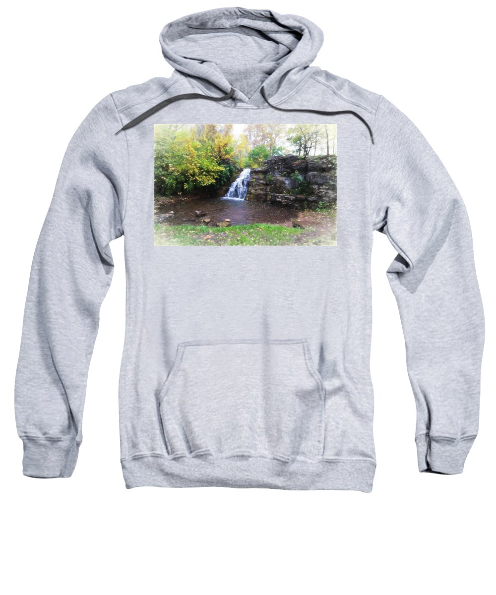 Sweatshirt featuring the photograph France Park by Deanna Rushforth