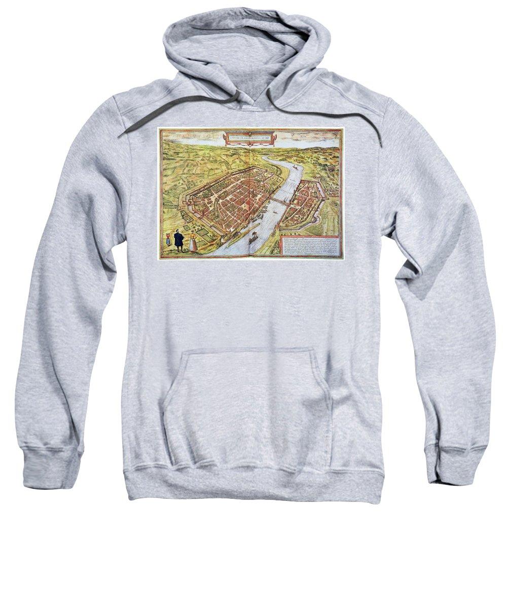1572 Sweatshirt featuring the photograph Frankfurt, Germany, 1572 by Granger