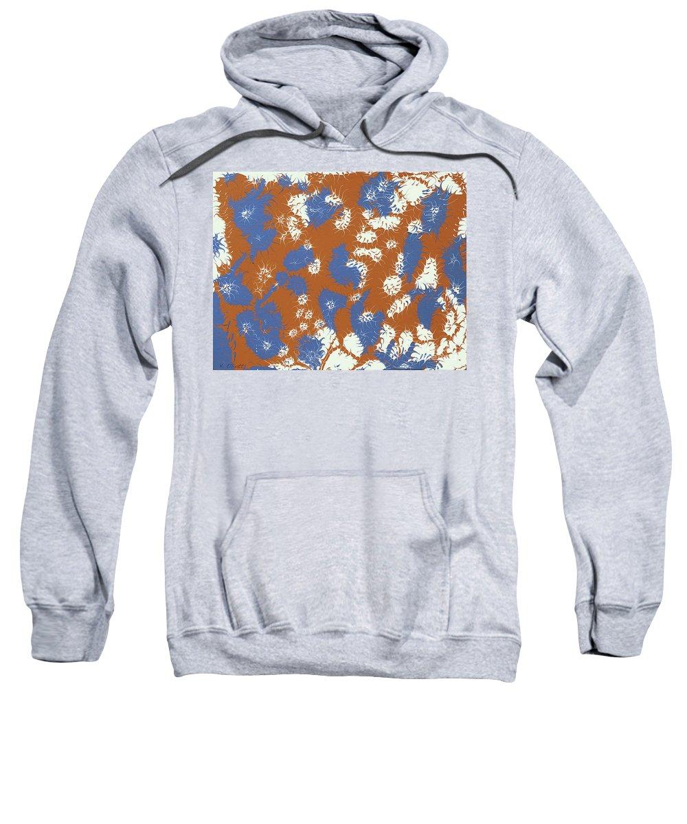 Keith Elliott Sweatshirt featuring the painting Frantic Delirium - V1sd88 by Keith Elliott