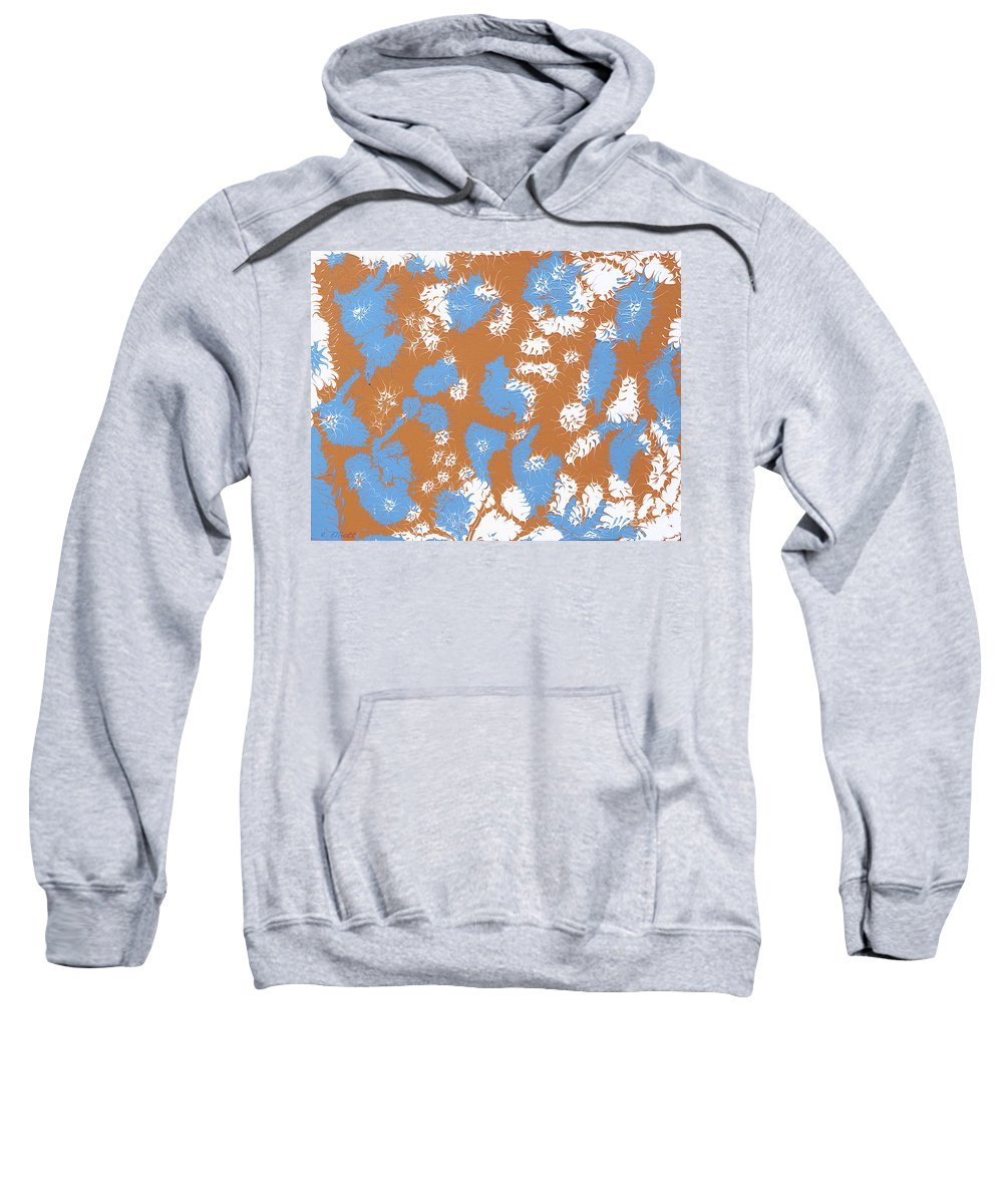 Keith Elliott Sweatshirt featuring the painting Frantic Delirium - V1sh100 by Keith Elliott