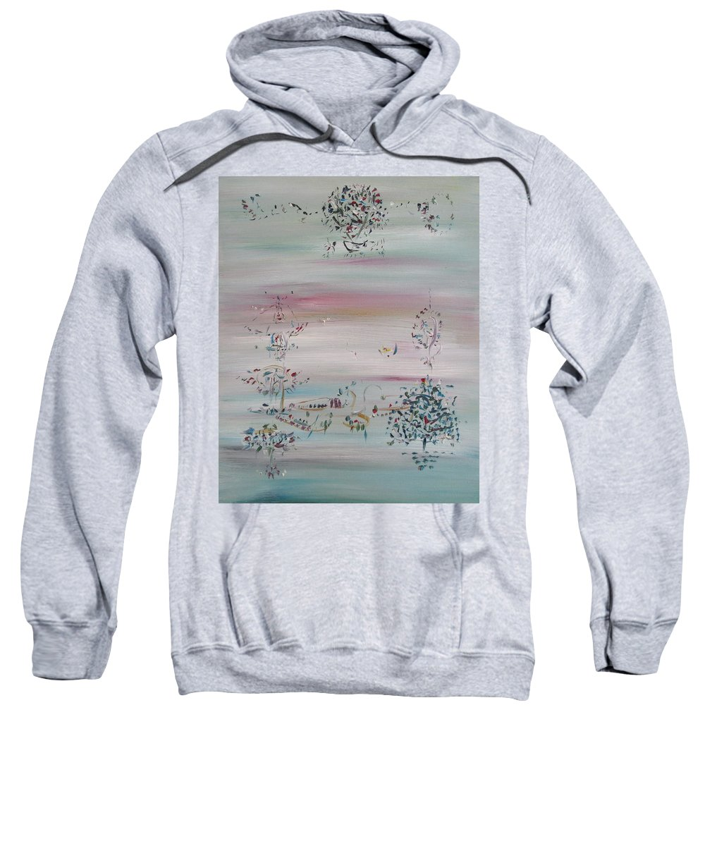 Abstract Sweatshirt featuring the painting Free Improvisation #10 by Fabrizio Cassetta