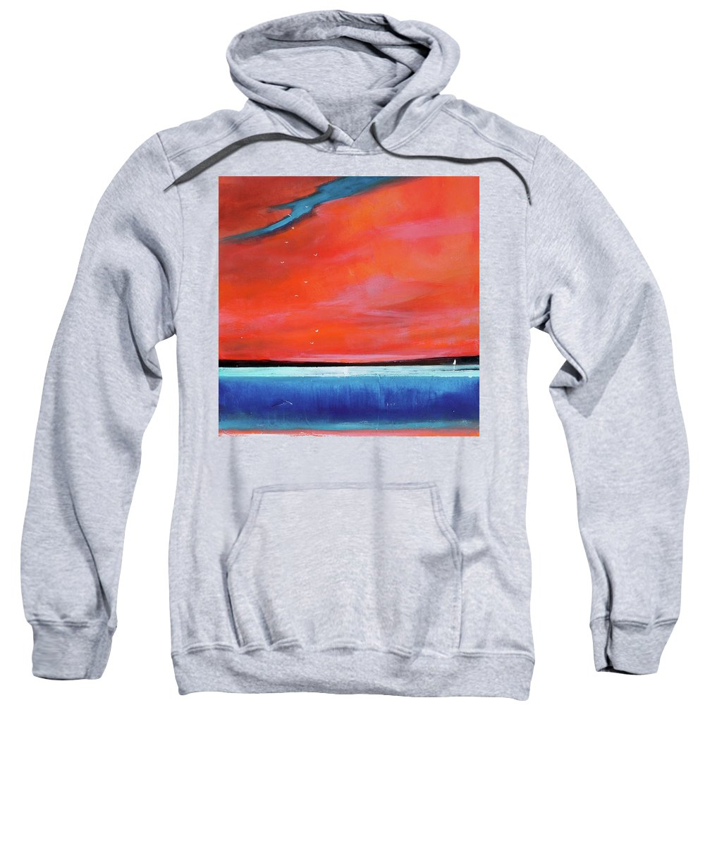Red Sweatshirt featuring the painting Freedom Journey by Toni Grote