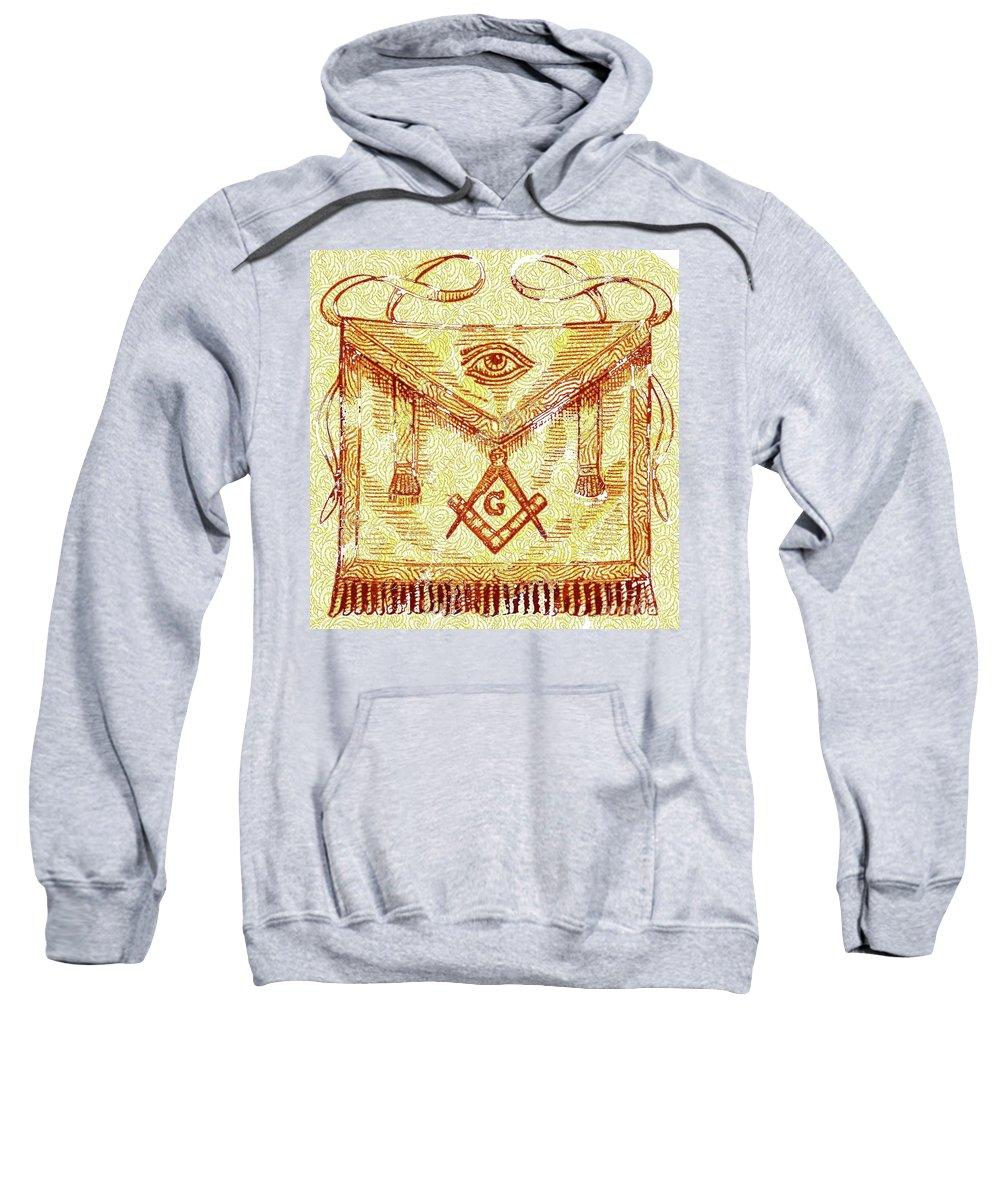 Freemason Sweatshirt featuring the digital art Freemason Symbolism by Pierre Blanchard
