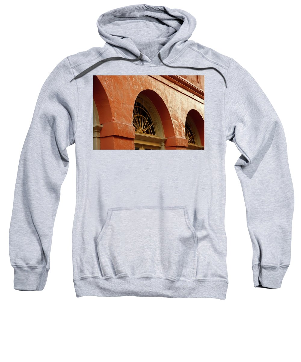 French Quarter Sweatshirt featuring the photograph French Quarter Arches by KG Thienemann
