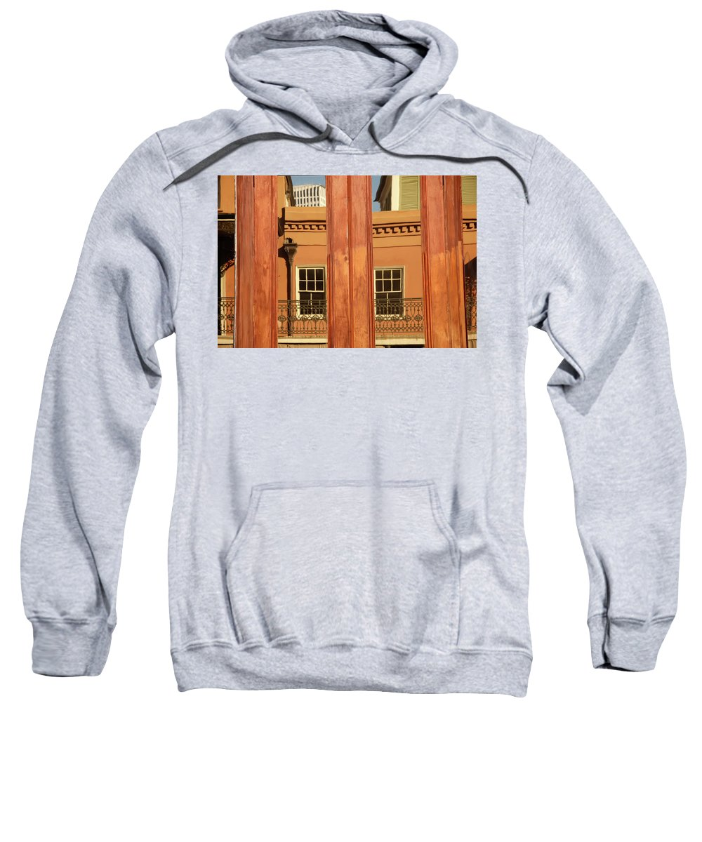 New Orleans Sweatshirt featuring the photograph French Quarter Reflection by KG Thienemann